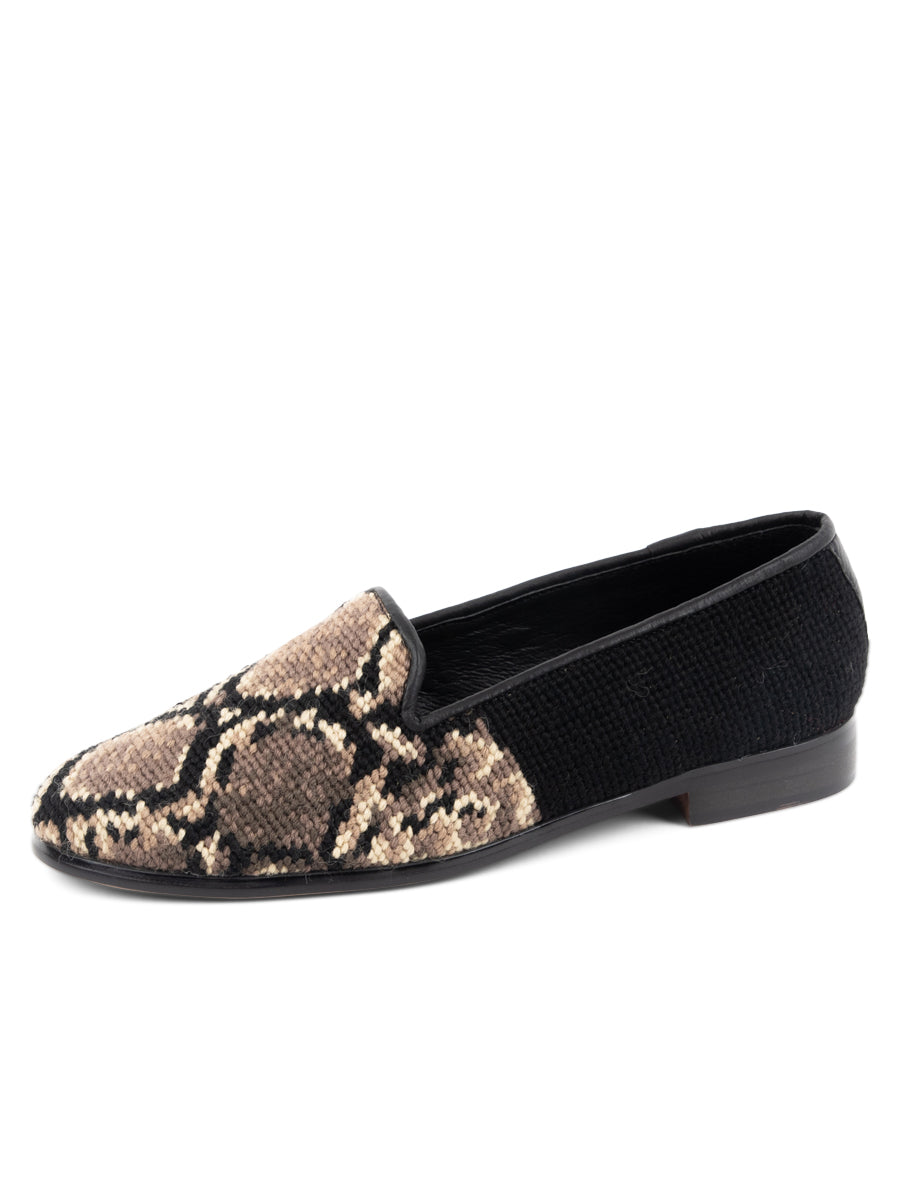 Womens Snake skin Needlepoint Loafer 2