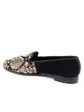 Womens Snake skin Needlepoint Loafer 4