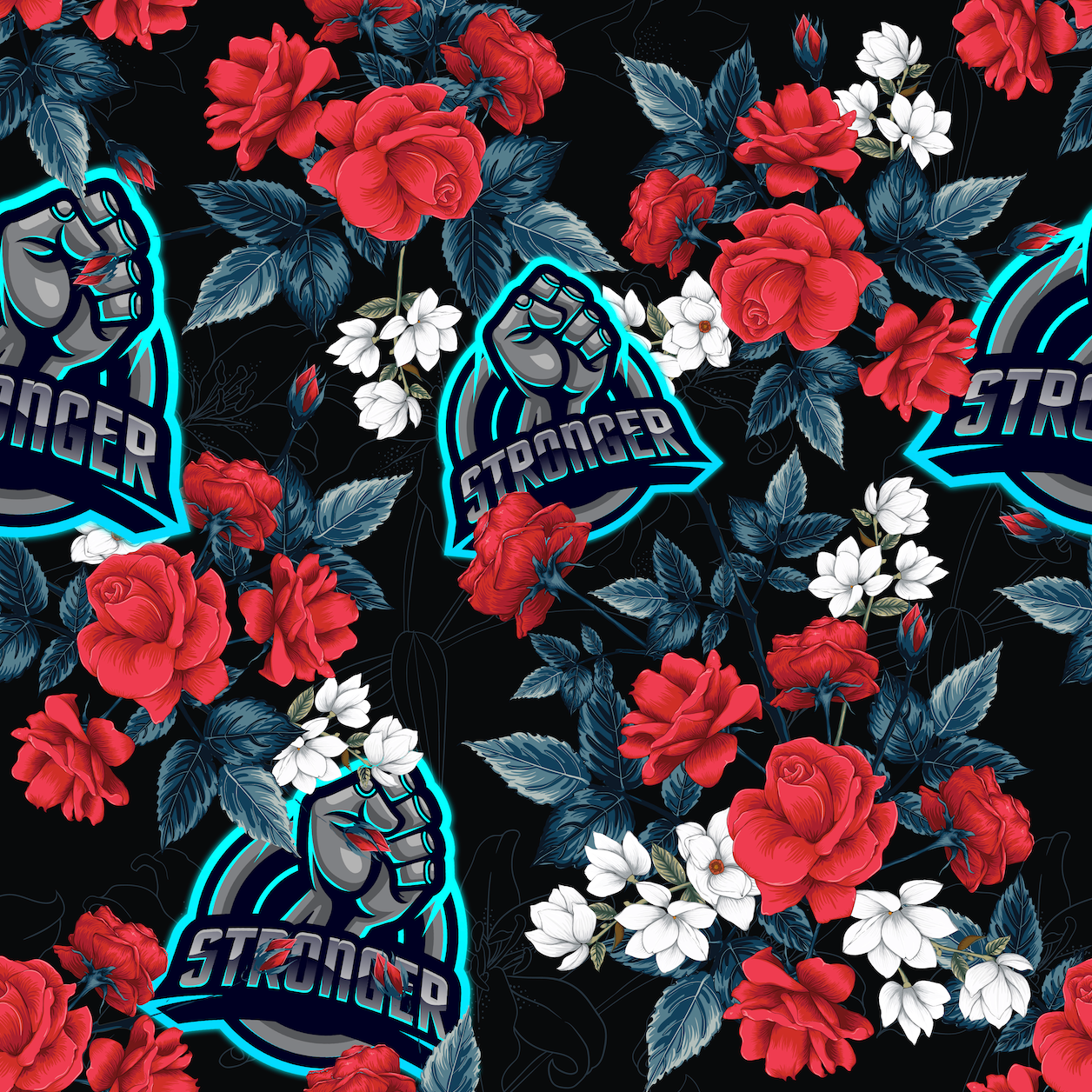 Stronger Floral Towel