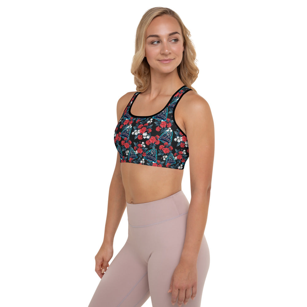 Stronger Floral Padded Sports Bra