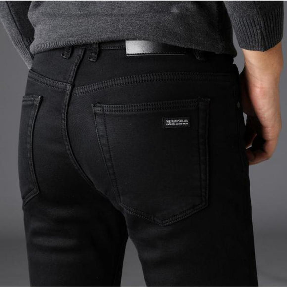 2020 New Men's Black Slim Jeans Classic Style Business Fashion Advanced Stretch Jean Trousers Male Brand Denim Pants