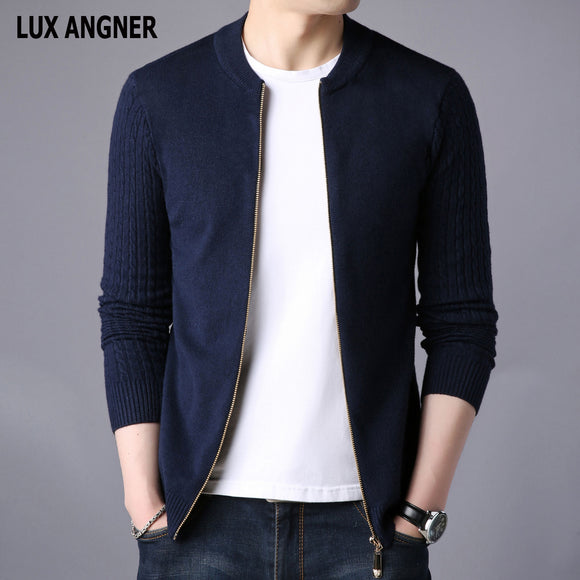 New Men's Cardigan Sweater 2020 Autumn Winter Men Long Sleeve Slim Fit Casual Knitted Sweaters Men Korean Fashion Cardigan Coat