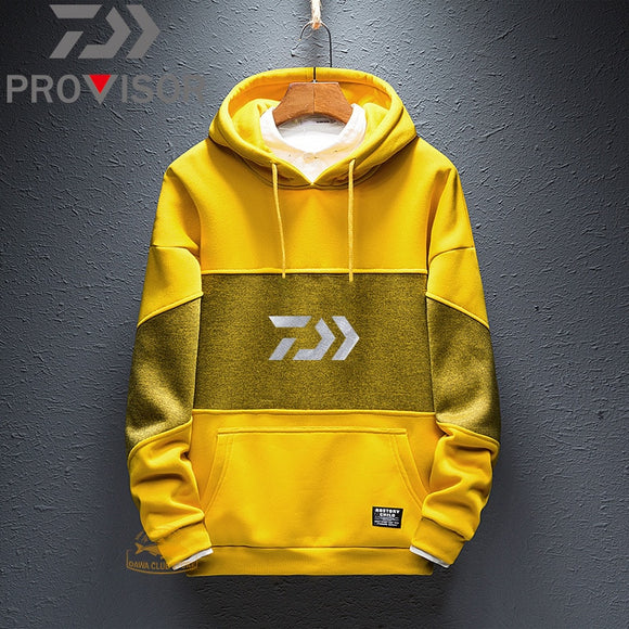 DAIWA  Fishing Clothes New Outdoor Men's Sports Hedging Warm Hooded Fishing Sweater Mountaineering Windproof Fishing Sweater