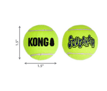Load image into Gallery viewer, Kong Air Squeaker Ball 3pack XSM