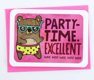 Party Time excellent Notecard