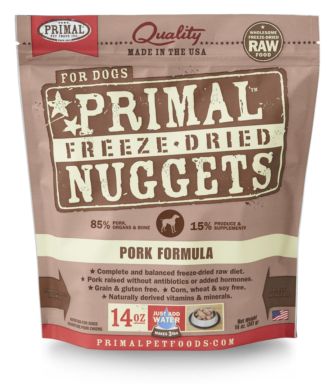 Primal Canine Freeze Dried Pork 14oz