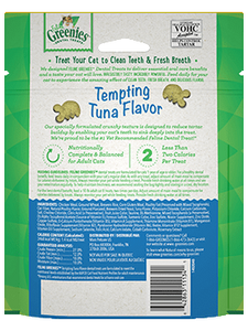 Greenies Feline dental treat Tuna 4.6oz