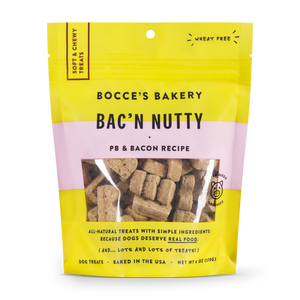 Bocces Soft Chewy Bacon Nutty 6oz