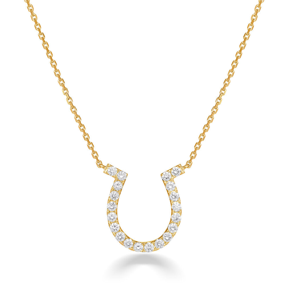 Medium LUX Diamond Horseshoe Necklace