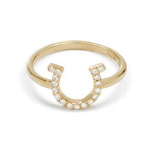 Load image into Gallery viewer, Karina Brez® Lucky Horseshoe Ring