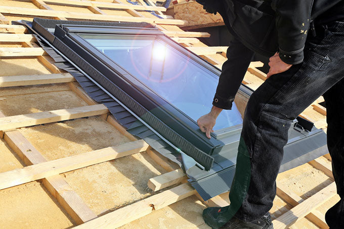 roof construction and skylight installation