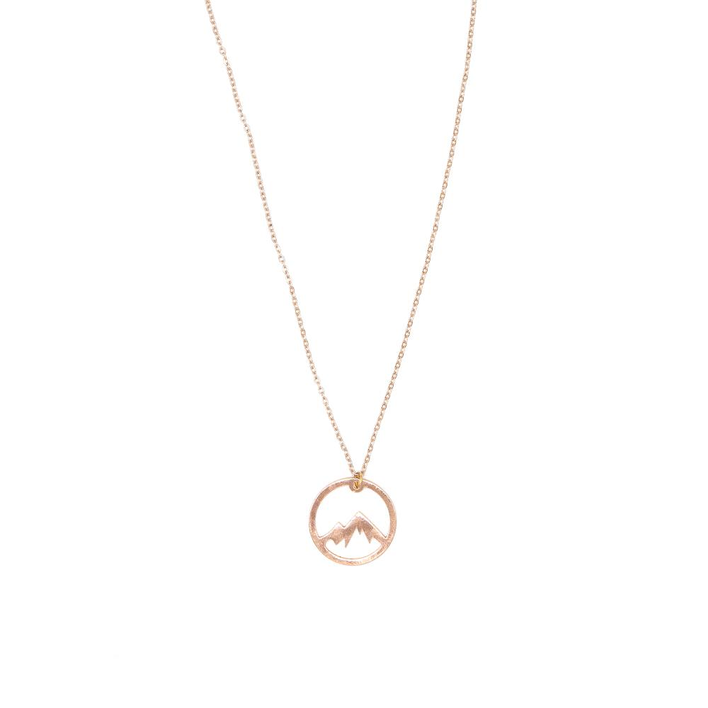 Eternal Mtn Necklace - Rose Gold