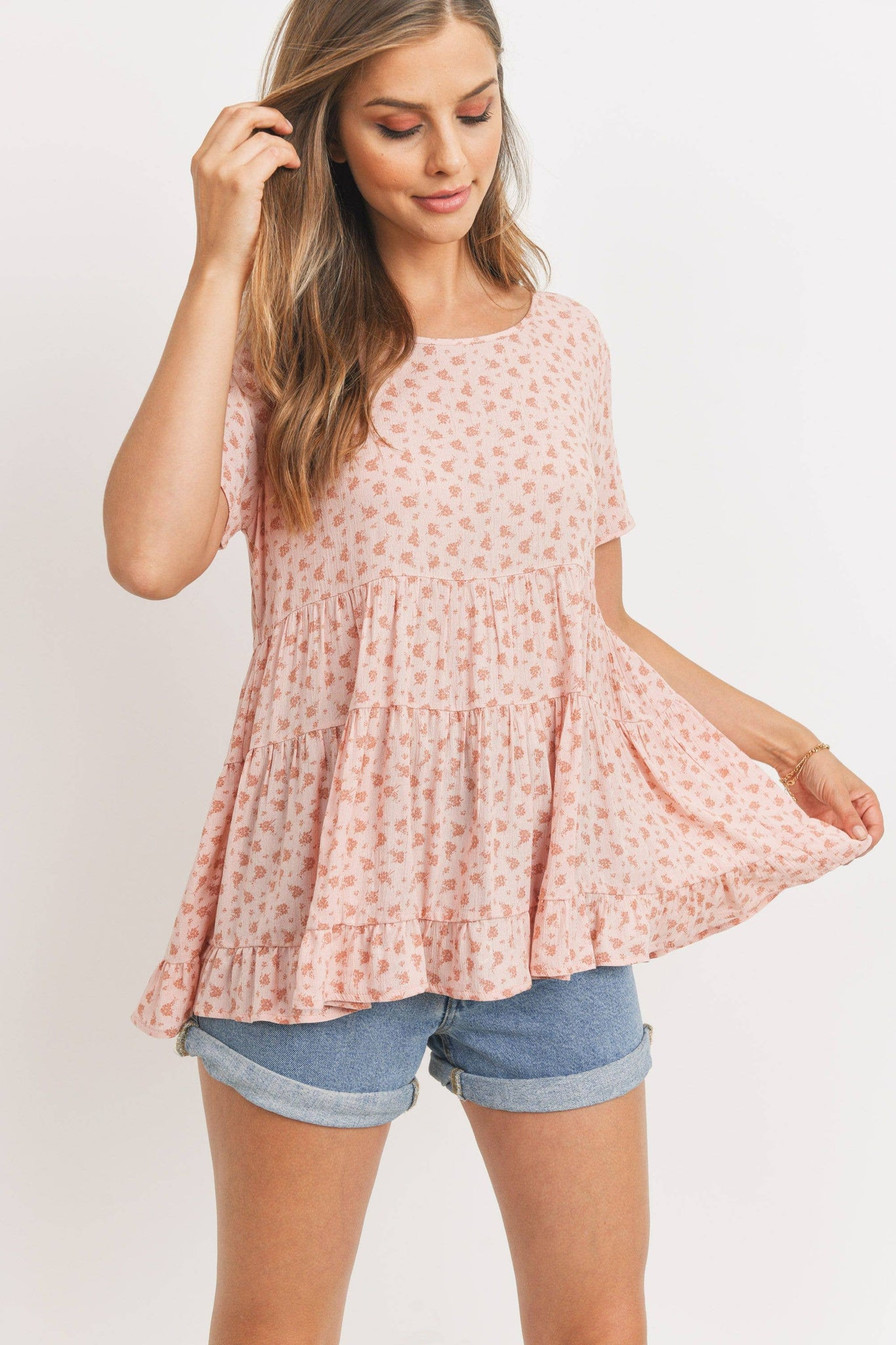 CANG CANG FLORAL TOP WITH BACK TIE
