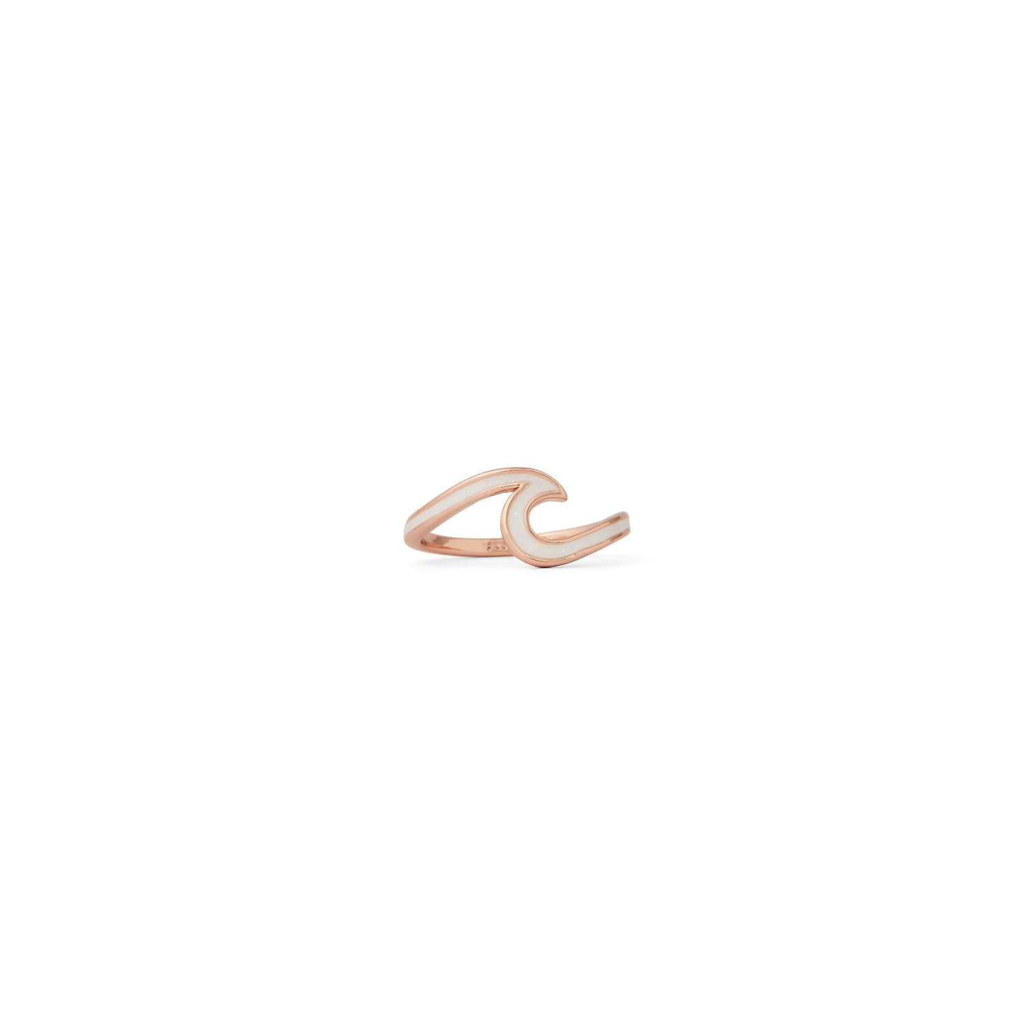 PURA VIDA ENAMELED WAVE RING ROSE GOLD