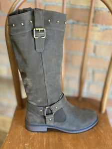 BARE BROWN RIDING BOOT W/ CALF EXTENSION