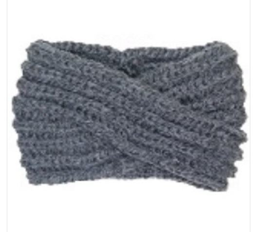 SOLID COLOR TWISTED KNIT HEADWRAP