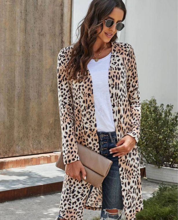 Check Me Out Cardigan - Camo or Leopard Print!