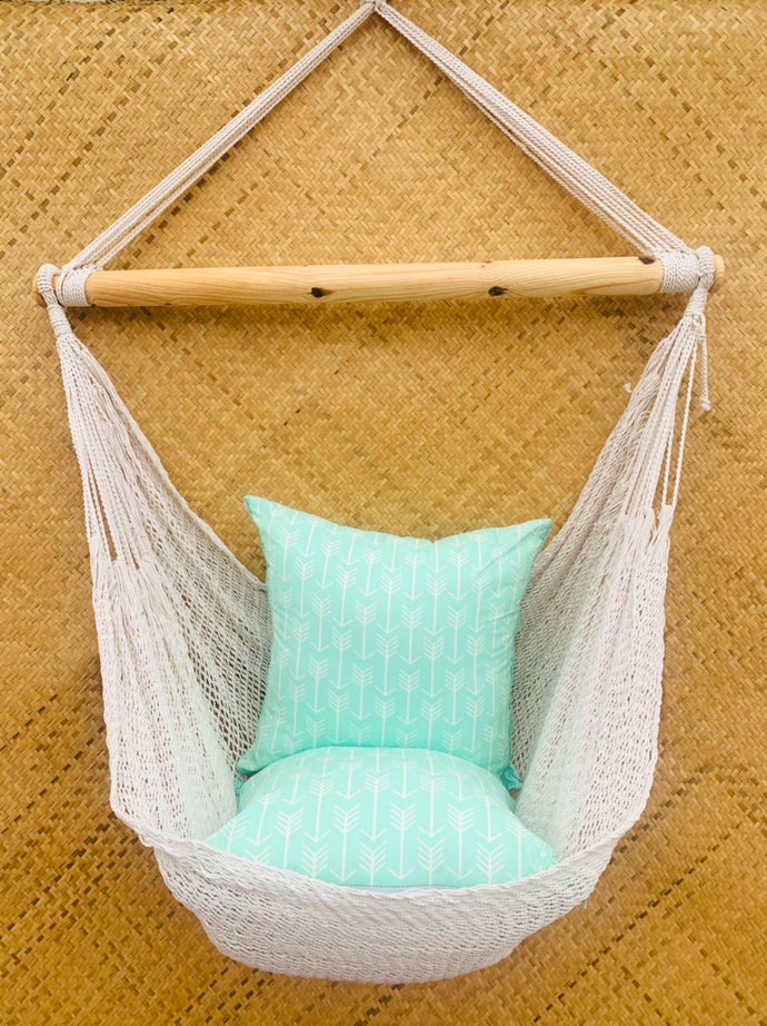 Mint Cocoon + Cushions