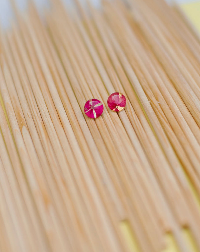 Elegant Mini Natural Hydrangea Buttons Earrings