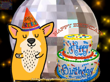 Load image into Gallery viewer, #310 Dog Dancing Happy Birthday Wishes