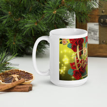 Load image into Gallery viewer, #417 Roses & Twinkle Stars Happy Birthday Mug