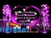 Load and play video in Gallery viewer, #365 Pretty Purple Heart Happy Birthday Wishes
