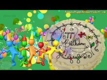 Load and play video in Gallery viewer, #349 Party Hat People Happy Birthday Wishes
