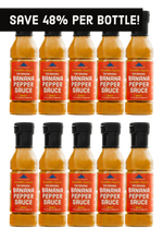 Load image into Gallery viewer, Spicy Original Banana Pepper Sauce - 10 Pack (Free Shipping!)