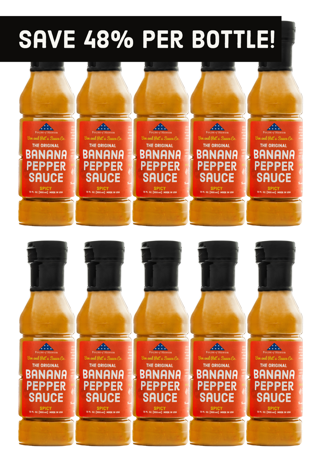 Spicy Original Banana Pepper Sauce - 10 Pack (Free Shipping!)
