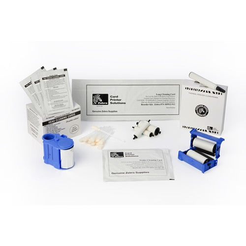 105999-808 Zebra ZXP Series 8 Laminator Cleaning Kit (includes 12- laminator & adhesive cleaning cards & 12 cleaning swabs. (enough for 60,000 prints)