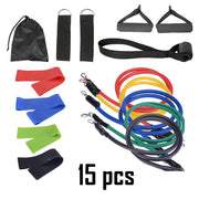 11 PCS Fitness Resistance Bands Set Fitness Elastic Bands Rope Pull Exercise Training Bands Elastic Expander Fitness Gym Yoga