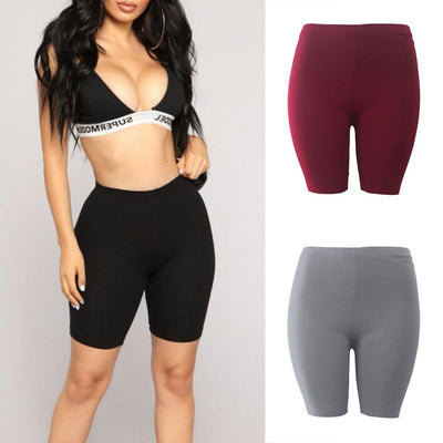 Womens Fitness Half Tights High Waist Quick Dry Skinny Yoga Bike Shorts Leggings