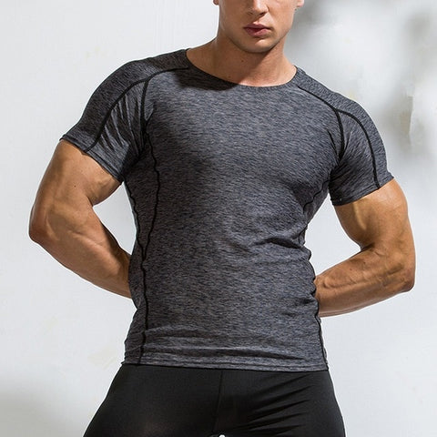 Men's clothing Running Fitness Sports O-Neck T-Shirt