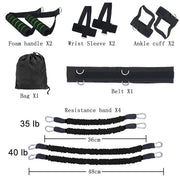 Boxing Fitness Bounce Trainer Leg Resistance Band Set
