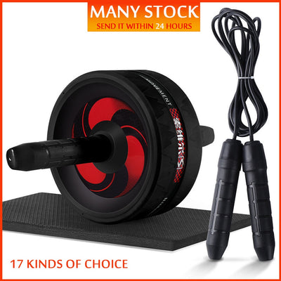 New 2 in 1 Ab Roller&Jump Rope No Noise Abdominal Wheel