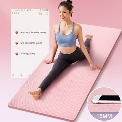 Extra Thick Yoga Mat High Quality Exercise Sport Mats For Gym