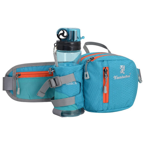 Running Bag Waist Belt Pack Outdoor Marathon Gym Sport Fitness Water Bottle Pouch Fanny Waist Pack Riding Cycling Phone Pocket