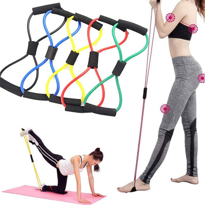 Yoga Resistance Exercise Bands Gym Fitness Equipment Pull Rope 8 Word Chest Expander Elastic Muscle Training Tubing Tension Rope