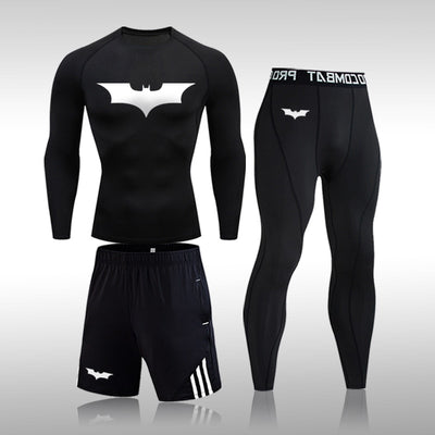 Men's Running Sports Suit MMA Rashgard Male Quick Drying Sportswear Compression Clothing Fitness Training Kit Thermal Underwear