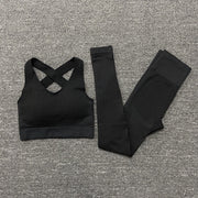 Women Yoga Bra Suits Gym Clothing Set