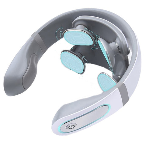 Wireless Electronic Neck Massager 4D Shiatsu Cervical Massager Stiff Neck Massage Health Care Therapy Pulse Pain Relief