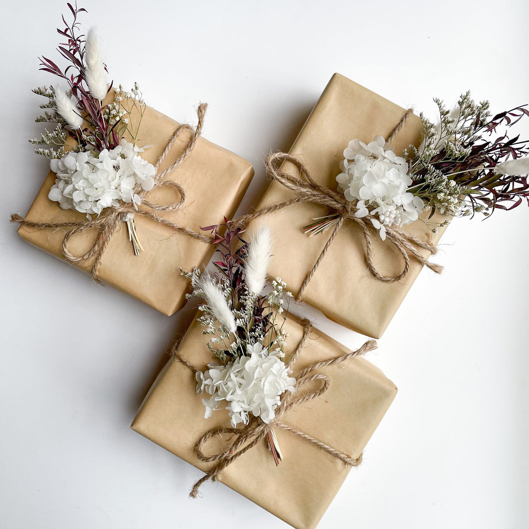 Copy of Set of 3 Gift Posies - Natural