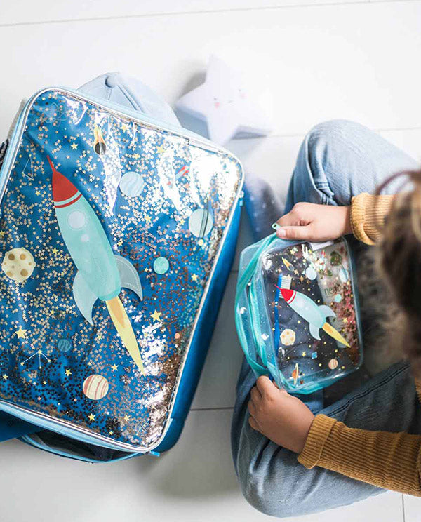 A Little Lovely Company - Suitcase - Glitter - space