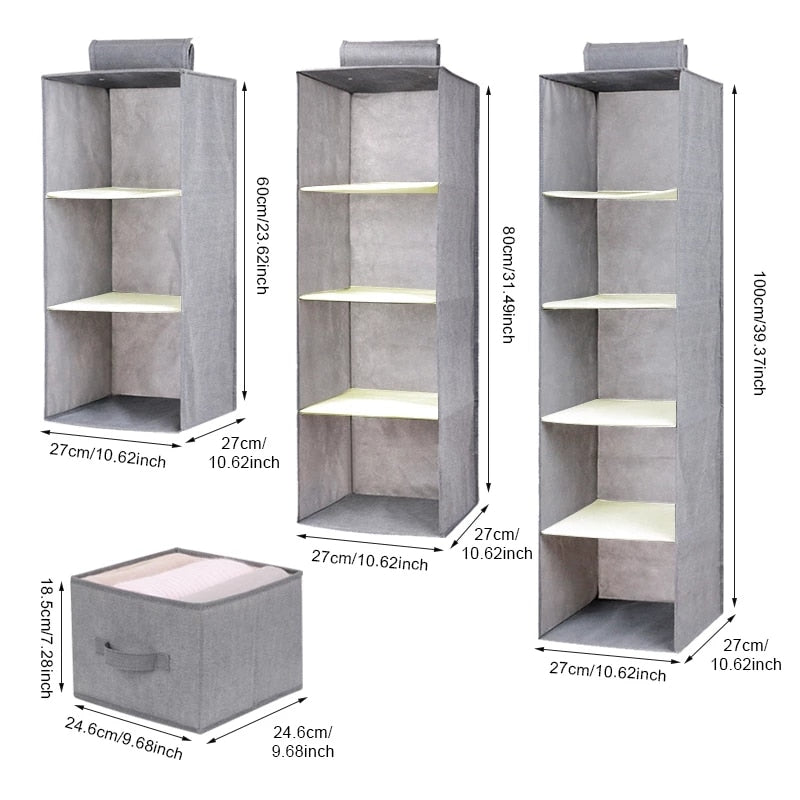 Closet Box Drawer Organizer