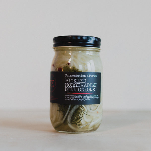 PICKLED HORSERADISH DILL ONIONS