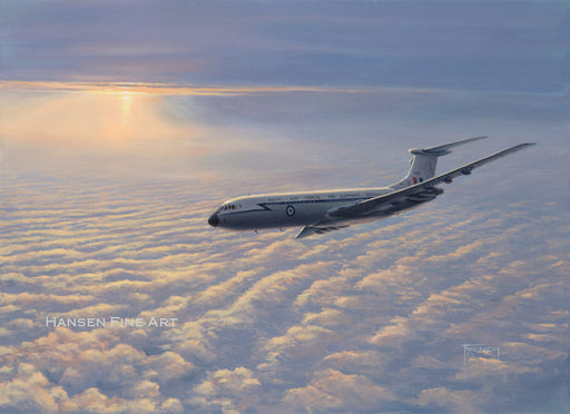 Turning For Brize - Vickers VC10