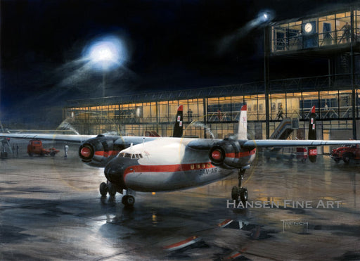 Evening Departure - Airspeed Ambassador - Dan-Air - Original Painting