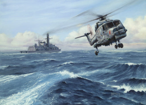 Iron Duck - Westland Lynx and HMS Iron Duke