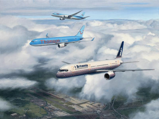 Lineage - Britannia Boeing 757 with Thomson Boeing 767 and 787