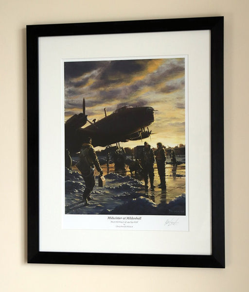 Midwinter at Mildenhall - Short Stirling - Framed Print
